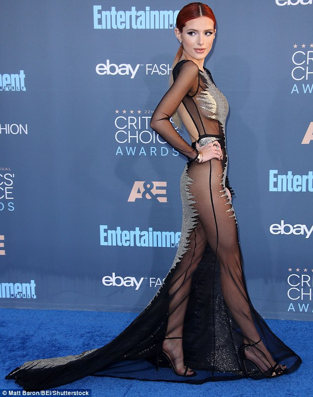 Strike a pose:The Shake It Up actress paired the risque look with strappy black heels and gold and diamond accessories