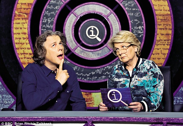 On QI's new host Sandi Toksvig: 'I'm her minder. If a joke doesn't go well I'll berate the audience'
