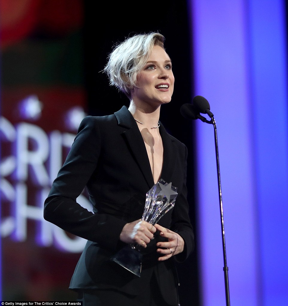The West was won: Evan Rachel Wood was given Best Actress in a Drama Series for her work on Westworld