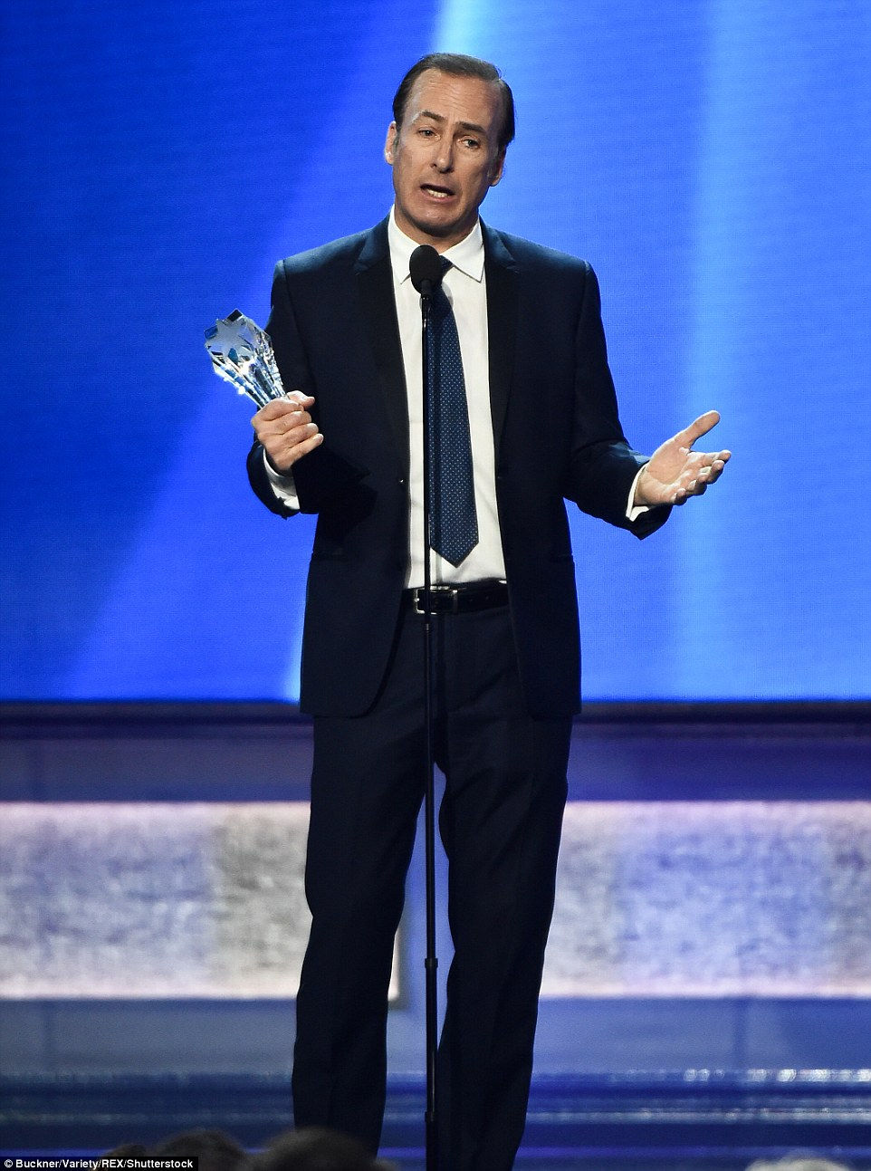 Better call him: Bob Odenkirk won Best Actor in a Drama Series for his work in Better Call Saul