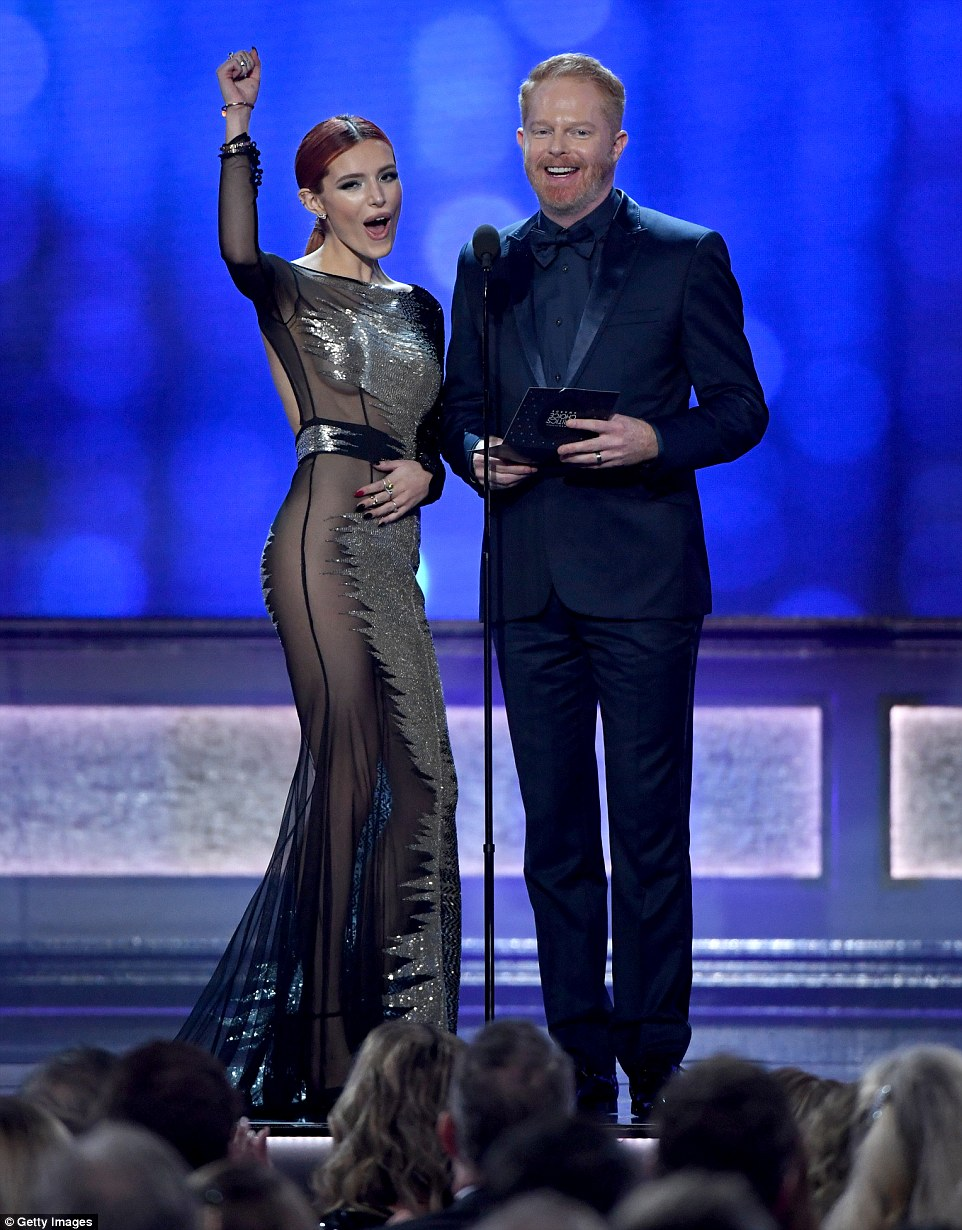 Interesting match: Bella Thorne and Jesse Tyler Ferguson were two of the presenters
