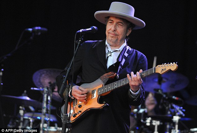 Smith was trying to sing Dylan's 1963 song, ' A Hard Rain's A-Gonna Fall ', when she began mumbling in the second verse (Dylan pictured in 2012)