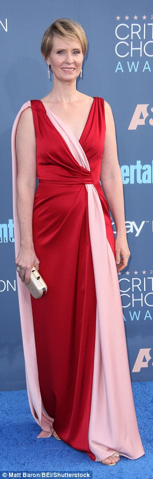 What would Carrie say?While she is a star of one of television's most stylish shows of all time, Sex And The City's Cynthia Nixon made style misstep in a red and pink satin gown which would have been suited more to the 1996 Critics' Choice Awards than the 2016