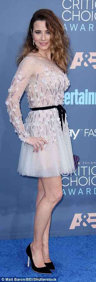 Prom-ready:Not dressing for a red carpet was also an issue which tripped up tripped up star Linda Cardellini
