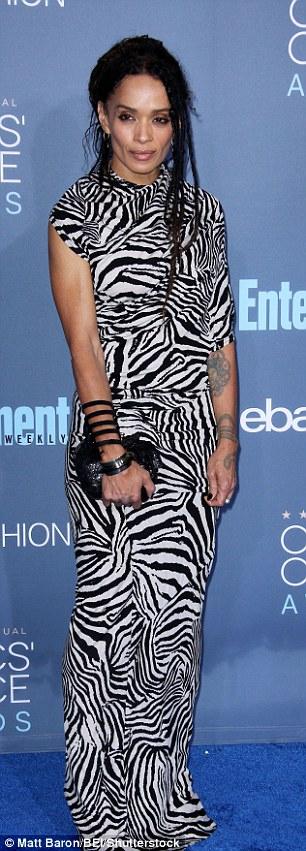 Bright: Lisa Bonet stood out in a zebra-print dress