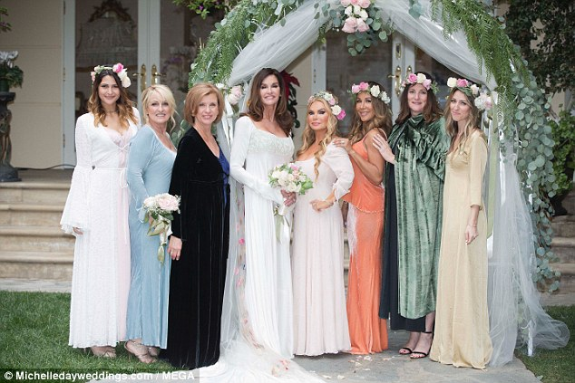 Gowns: Her family and friends were especially glamorous on her big day