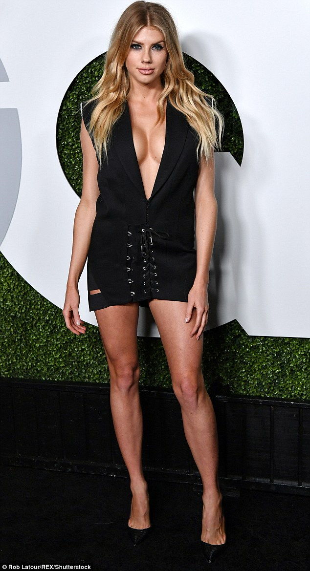 Thighly impressive: But she did a sterling job of showcasing her toned legs