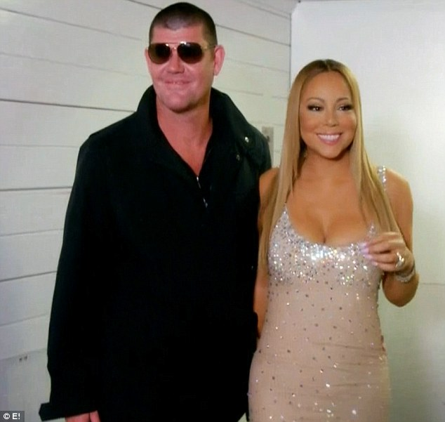 Pleasant surprise: Mariah Carey was pleasantly surprised when her then-fiancee James Packer attended the first show on her European tour on Sunday's episode of Mariah's World