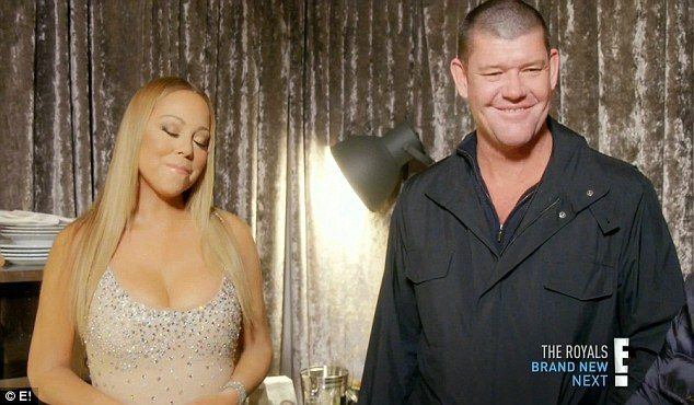 Former flame: Australian billionaire James and Mariah split before the series aired