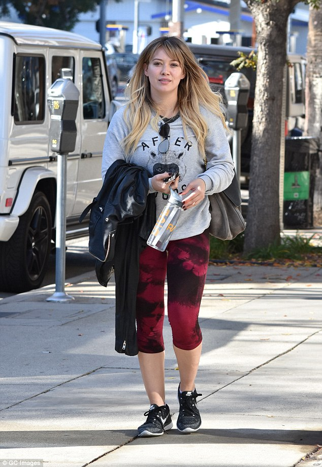 Busy: Duff leads a very active lifestyle, as she's seen on a regular basis getting in workouts