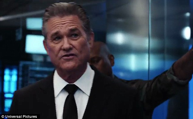 He's back: Kurt Russell was back as Frank Petty but this time to take out Dom and Cipher