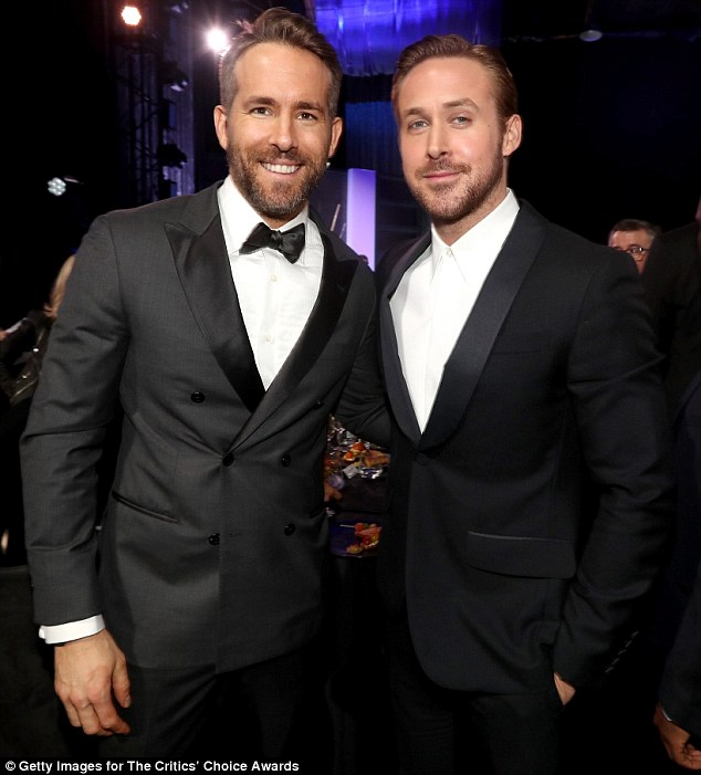 The Ryan king: Reynolds beat namesake Gosling for the Best Comedy Actor gong at the Critics' Choice Awards in Los Angeles on Sunday