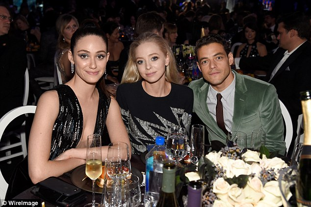 The Mr Robot table: They sat down flanking Portia Doubleday, also an actress on the science fiction thriller programme