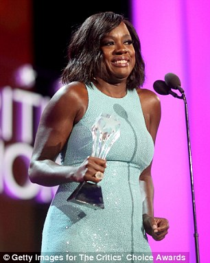 Designed for her: The actress was presented with the #seeher award created by the National Advertisers Association for portrayal of women in media
