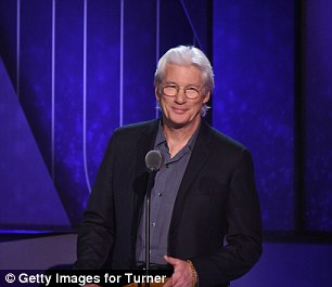 Silver fox: Richard Gere was also one of the celebrity presenters at the televised show