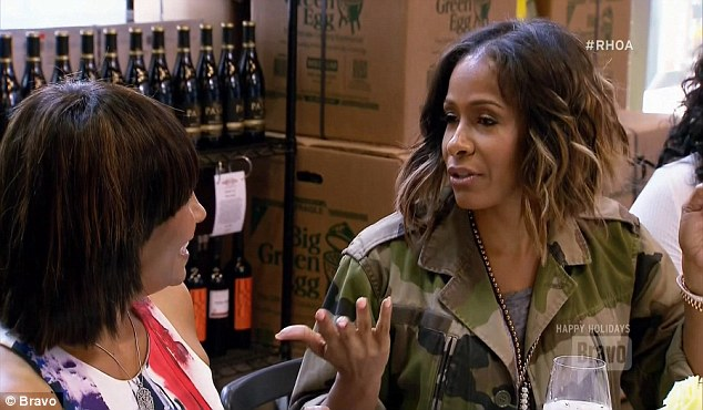 Stirring it up: Sheree Whitfield brought up Kandi's ex who also dated Porsha