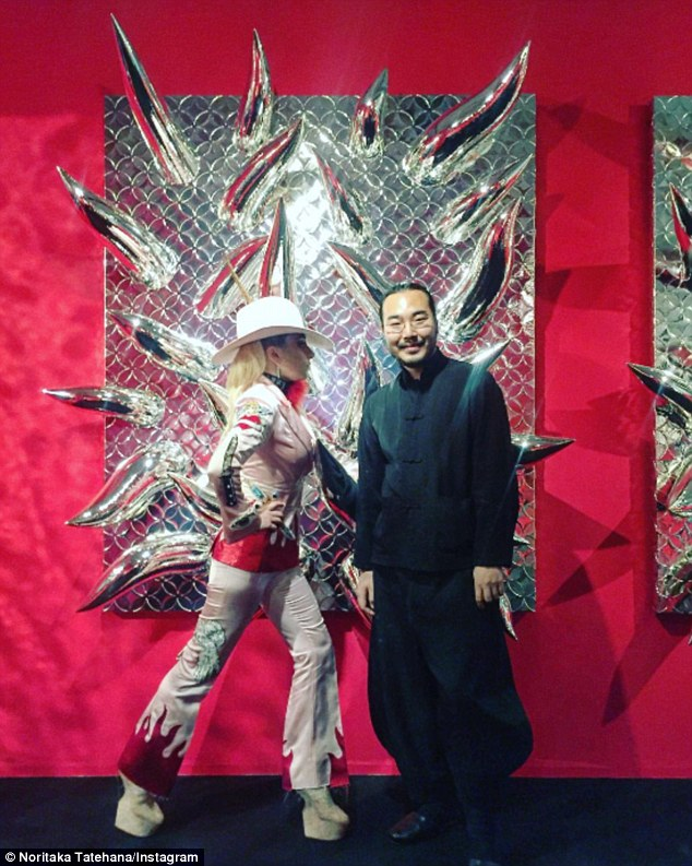 Heel-less creations: Back on November 5, Mother Monster visited the 31-year-old Japanese shoe designer at Tokyo's Taro Okamoto Memorial Museum