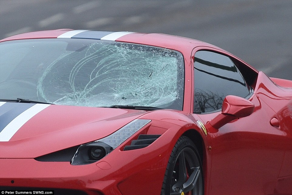 On their way to a Christmas party: Seven teenagers, all aged around 16, were injured following a collision with a Ferrari