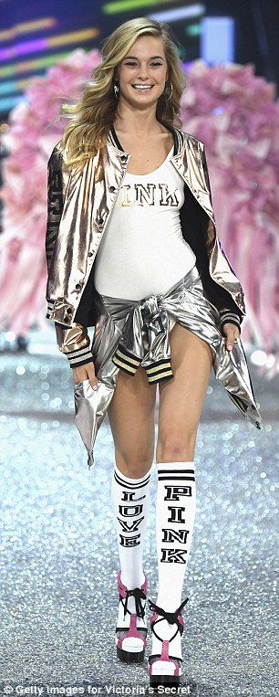 Hot off the runway: The 25-year-old walked the runway at this year's Victoria's Secret Fashion Show in Paris last month