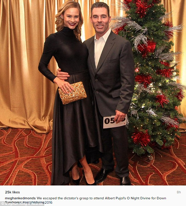 'We escaped the dictator's grasp': On Saturday night, Meghan King Edmonds and her husband Jim Edmonds attended the O' Night Divine Christmas event the Pujols Family Foundation threw in St Louis