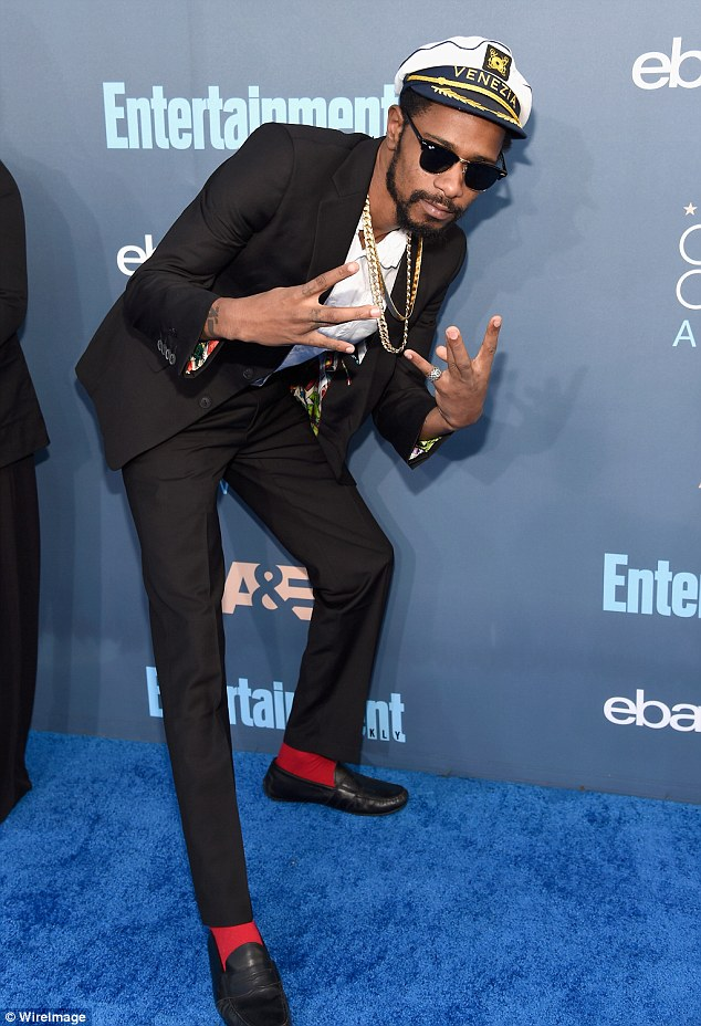 Came to party:Lakeith was certainly having a big night at the awards from the moment he stepped on to the blue carpet