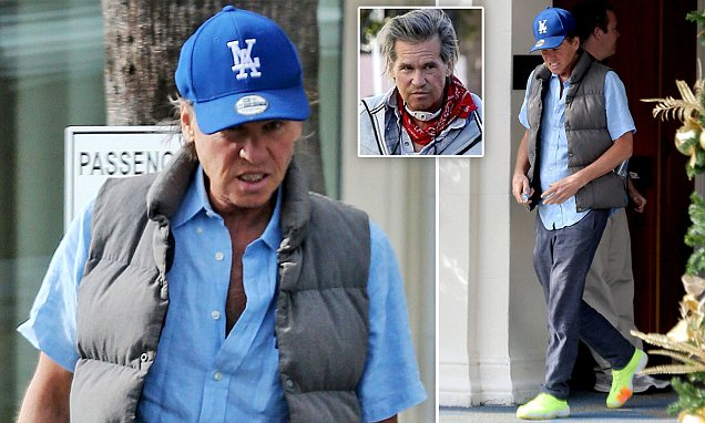 Val Kilmer seen for first time in California after denying he has throat cancer