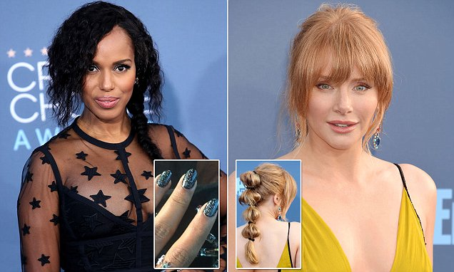 The beauty is in the details! How many of these sneaky star's hair, manicure and make-up