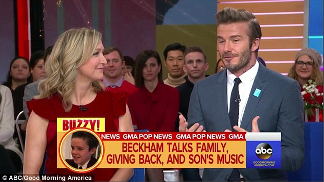 Defending himself: David was on Good Morning America to talk about his own charity work