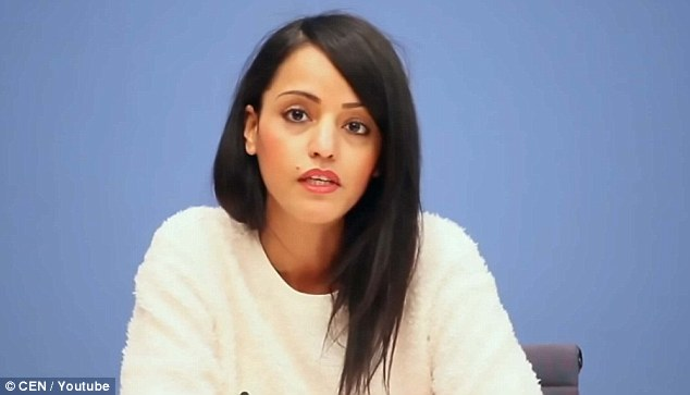 Sawsan Chebli (pictured) grew up in a 'pious Muslim' household and although she wears western dress, she said the headscarf was a 'religious duty' and should not be banned
