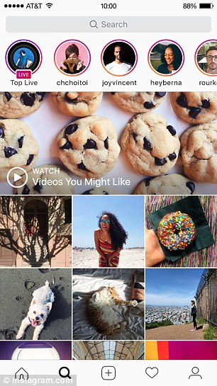 Viewers know when someone is live by the ¿live¿ badge displayed over a person¿s Story icon at the top of the app
