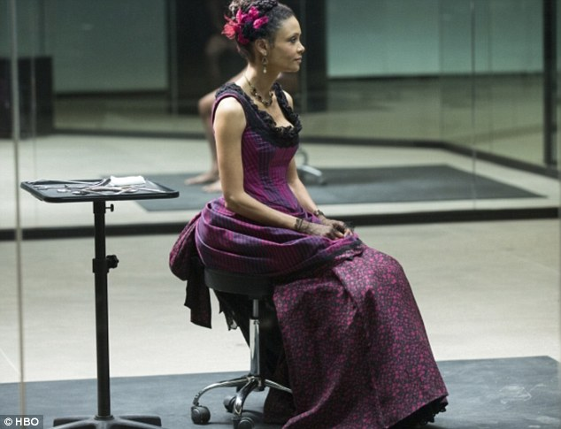 Out of this world: Thandie Newton has received a Best Actress nod for her role in the popular new TV show Westworld