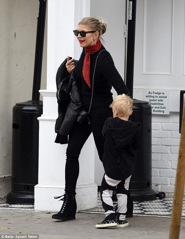 Hot momma! Fergie was back to the West Coast on Sunday, as she stepped out with her son Axl in West Hollywood, California
