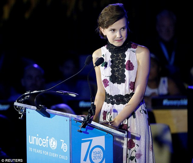 Thrilled to be a part of it: The actress hosted UNICEF's 'youth takeover'