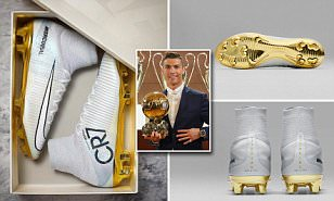 Cristiano Ronaldo gets gold CR7 Nike football boots after winning fourth Ballon d'Or