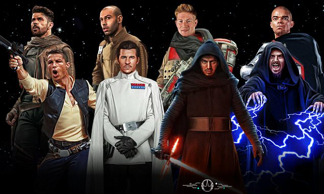 Star Wars Rogue One, with Cristiano Ronaldo re-imagined as a character in a galaxy far
