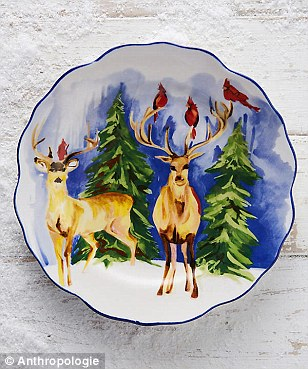 Winterland dessert plate, $14, Anthropologie