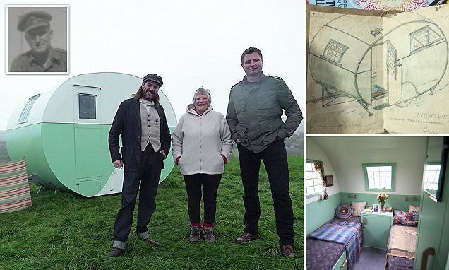 British WWII POW who drew plans for 1930s caravan while in captivity sees dream realised