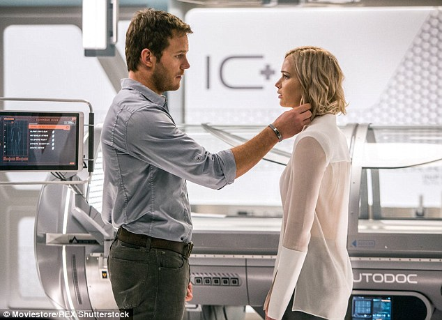 He makes her heart race: In the film, Chris and Jennifer's characters become romantically involved