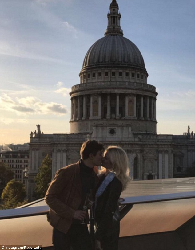 The big day: Male model Oliver, 28, asked for the singer's hand in marriage last month in front of London's stunning St Paul's Cathedral