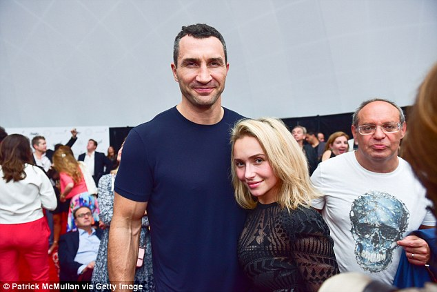 Cuddling up: Hayden, with Wladimir at an event in Miami last month, admitted that she found it difficult to make friends when she first arrived in Los Angeles as a 22-year-old