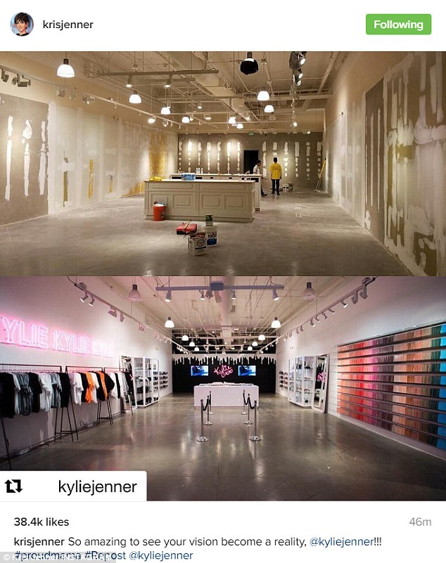 A hit!Jenner seems to be in great spirits since the opening of her Kylie pop up shop at the Topanga Mall outside LA