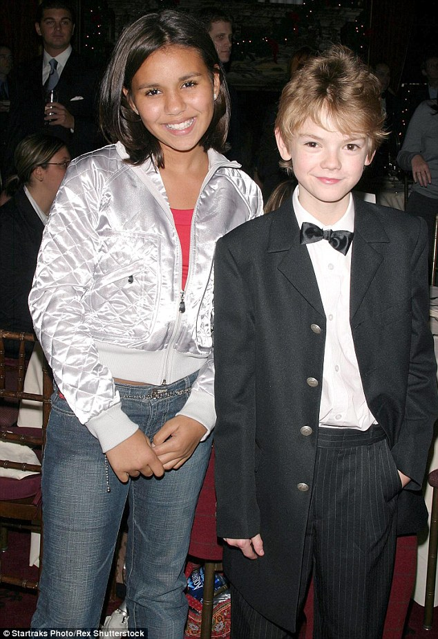 On the promo trail with her young co-star, Thomas Brodie-Sangford, who played Sam
