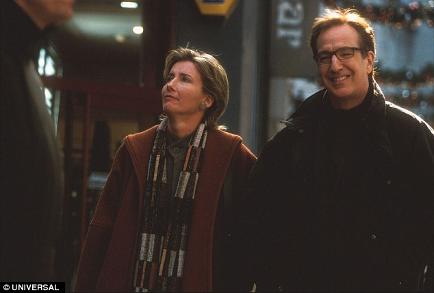 Emma Thompson plays Karen, who is married to Harry, played by the late Alan Rickman