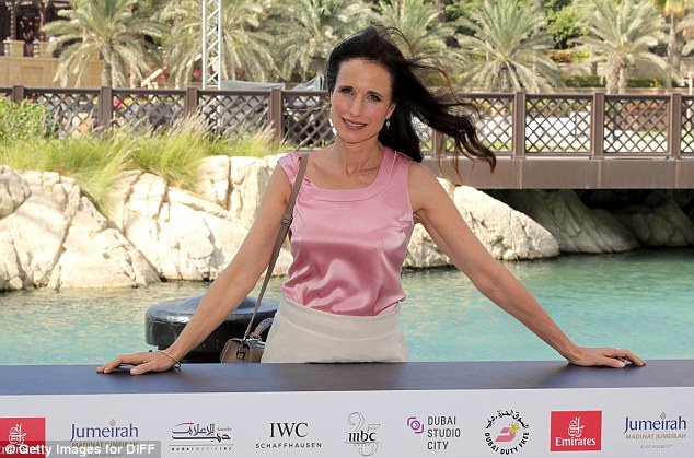 Radiant:Even as she arrived by boat, the screen star's hair seemed to defy the humidity of Dubai as it lay in a glossy mane on her shoulders