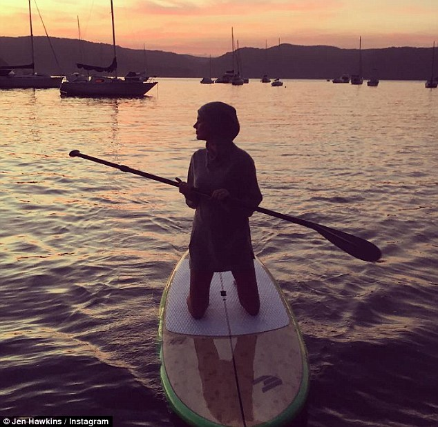 In her element: Jennifer regularly shares images of herself on the water on social media