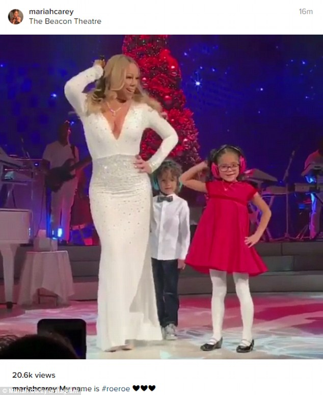 Surprise!She recently performed with John Legend last week at the Beacon Theater and brought her kids, Moroccan and Monroe, on stage