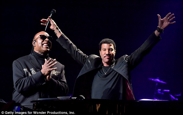 Busy man! Richie recently performed at Stevie Wonder's20th Annual House Full of Toys Benefit Concert in LA