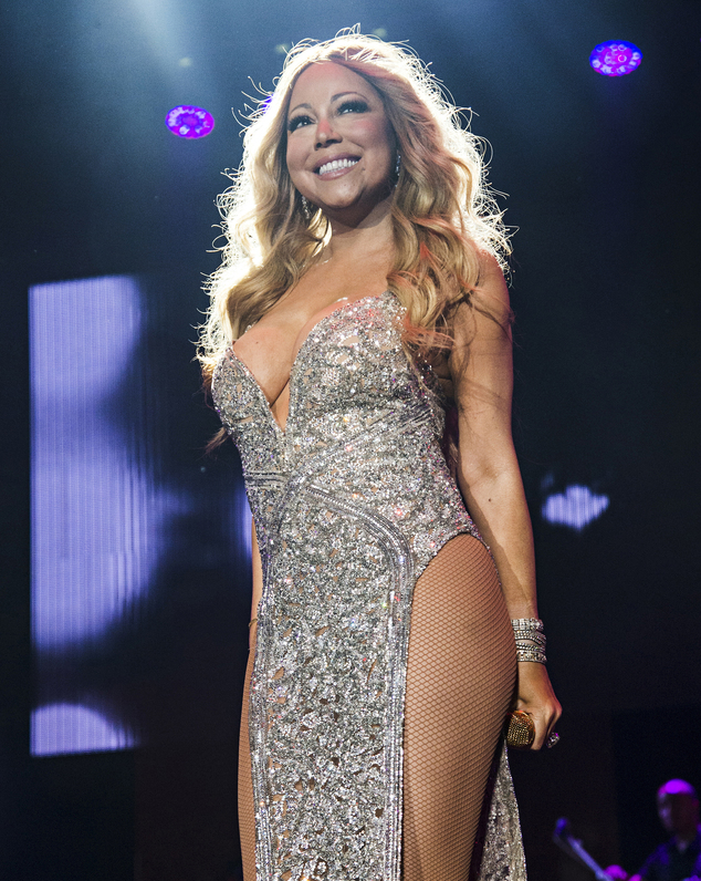 Power duo! Mariah Carey and Lionel Richie announce they are joining forces for the All The Hits Tour, which kicks off in Baltimore on March 15, 2017. Here she is seen in July