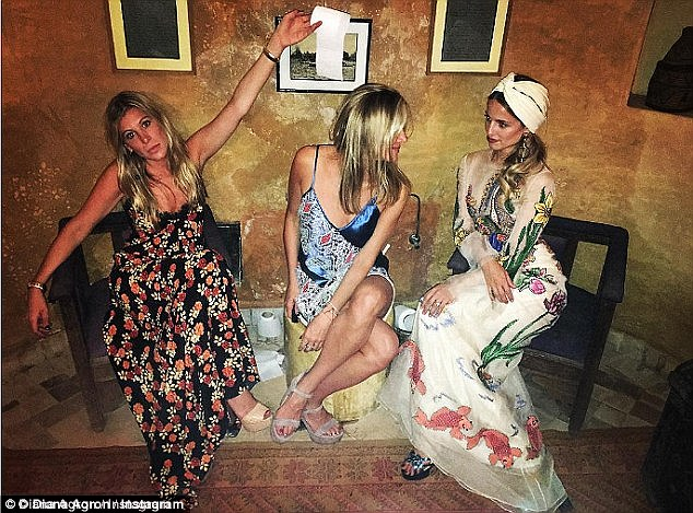Another look: Kyle Hotchkiss Carone captioned this photo: 'Pretty girls in pretty dresses'