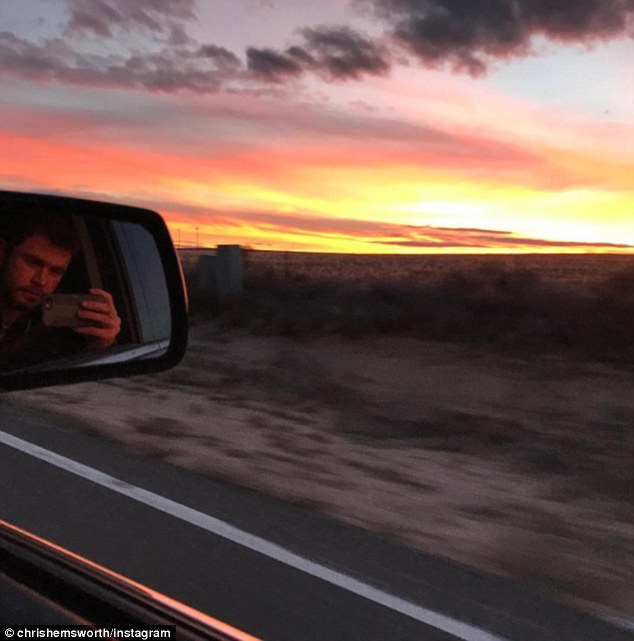 'Super artistic': Chris showed that he has talent behind the camera, snapping an artsy sunset pic to share with his 7.9 million Instagram followers